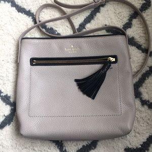 Taupe Kate Spade crossbody bag